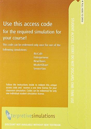 9780136075134: Interpretive Simulations Access Code Card Group A