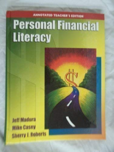 9780136076414: Personal Financial Literacy, Annotated Teacher's Edition