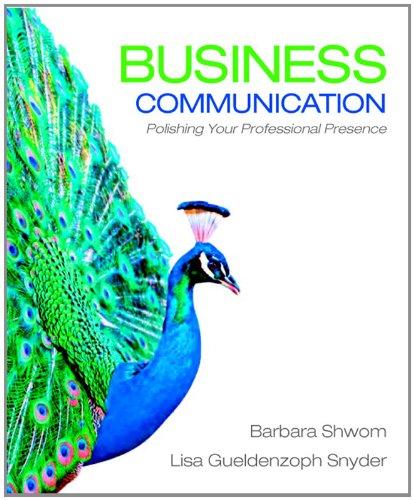 9780136078074: Business Communication: Polishing Your Professional Presence