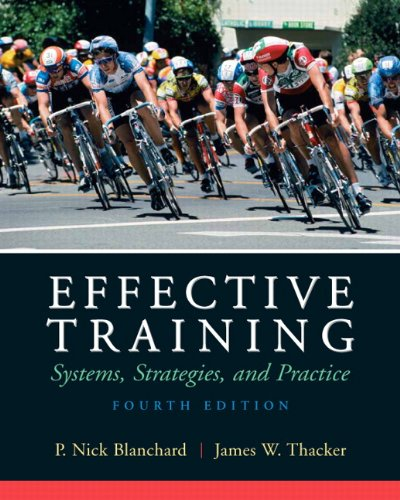 9780136078326: Effective Training (4th Edition)