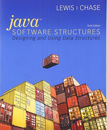 9780136078586: Java Software Structures: Designing and Using Data Structures (3rd Edition)