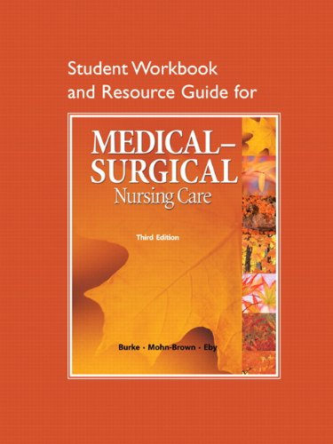 9780136080114: Study Guide for Medical-Surgical Nursing Care