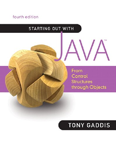 9780136080206: Starting Out with Java: From Control Structures through Objects (4th Edition)