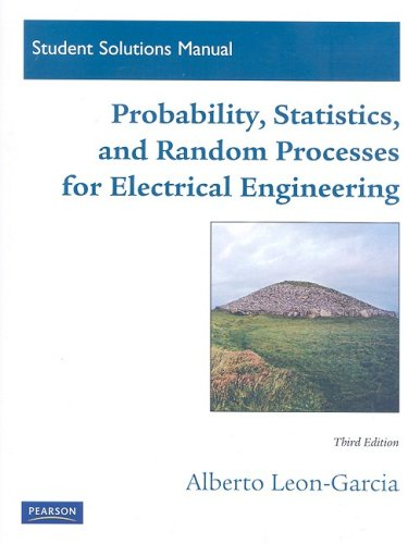 9780136081180: Student Solutions Manual for Probability, Statistics, and Random Processes for Electrical Engineering
