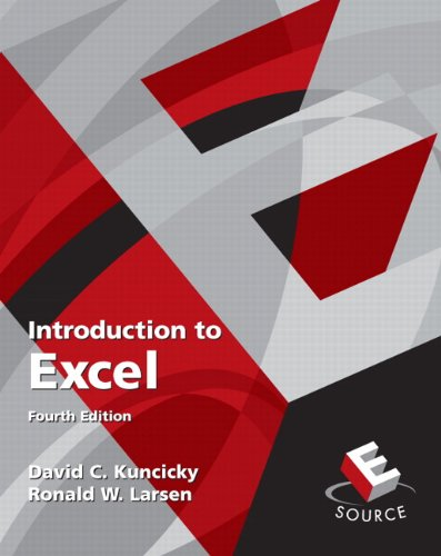 9780136081654: Introduction to Excel (4th Edition)