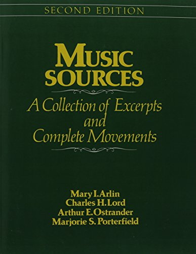9780136082828: Music Sources: A Collection of Excerpts and Complete Movements, 2nd Edition