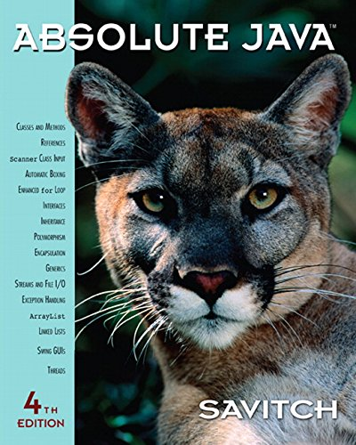 9780136083825: Absolute Java (4th Edition)