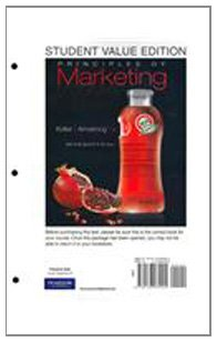 9780136084204: Principles of Marketing, Student Value Edition (13th Edition)