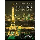 Auditing and Assurance Services (an intergrated approach): Alvin A. Arens