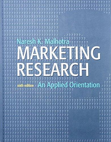 9780136085447: Marketing Research: An Applied Orientation
