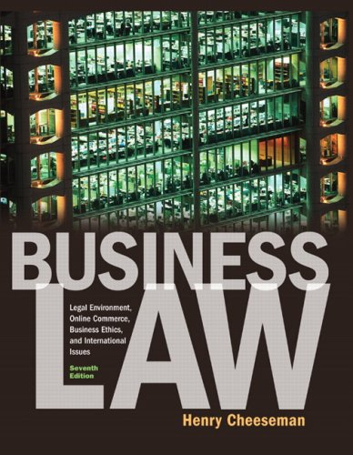 9780136085546: Business Law: United States Edition