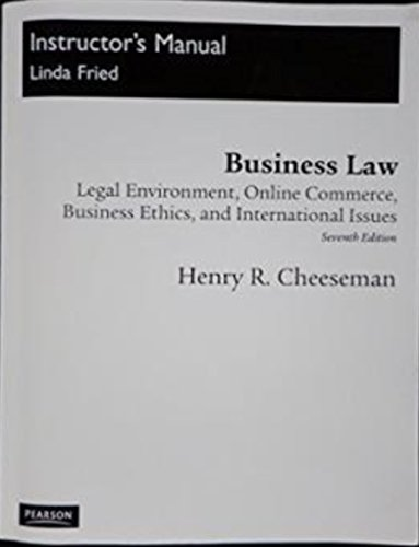 Business law legal environment online commerce business ethics and business law legal environment online commerce business henry r fried fandeluxe Choice Image