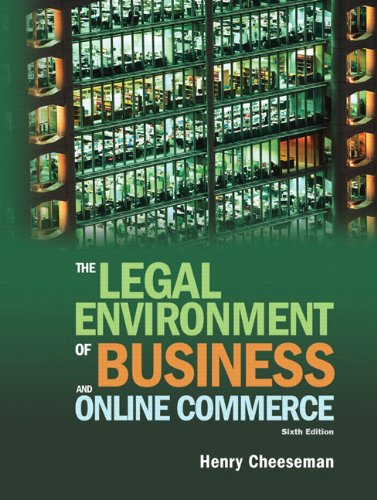 9780136085683: The Legal Environment of Business and Online Commerce