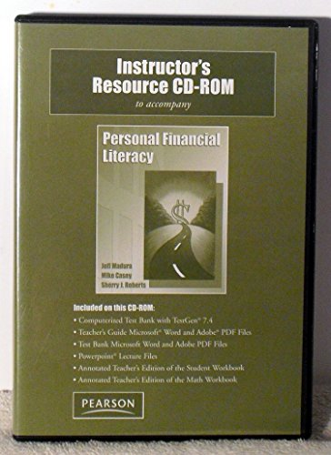 9780136087410: Instructor's Resource CD-ROM to accompany (Personal Financial Literacy)