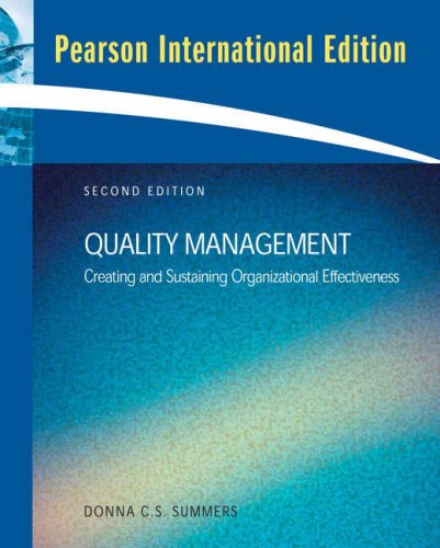 9780136087427: Quality Management: Creating and Sustaining Organizational Effectiveness