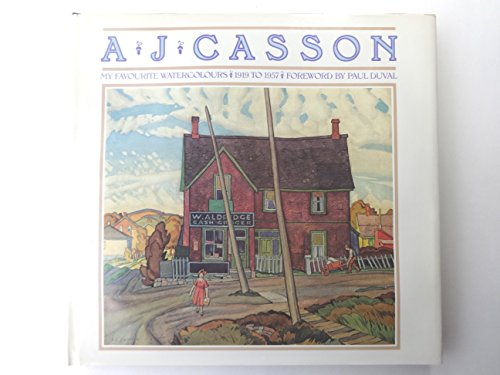 9780136088363: A. J. Casson: My Favourite Watercolours 1919 to 1957