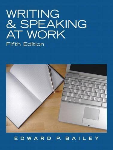 9780136088554: Writing & Speaking at Work
