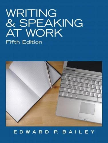 9780136088554: Writing & Speaking at Work (5th Edition)