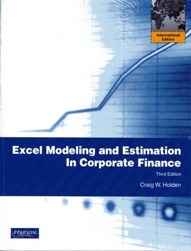 9780136089063: Excel Modeling and Estimation in Corporate Finance
