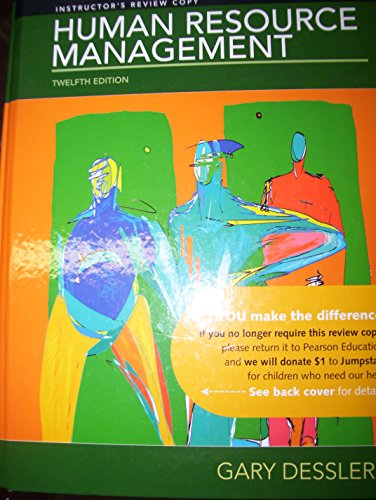 9780136089964: Human Resource Management, by Dessler, 12th Edition, US