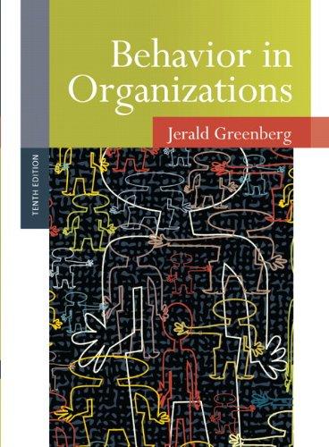 9780136090199: Behavior in Organizations (10th Edition)