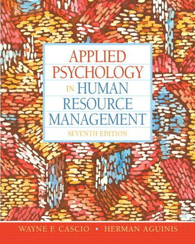 9780136090953: Applied Psychology in Human Resource Management