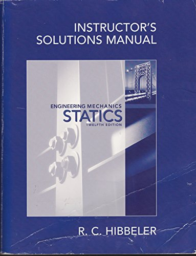 9780136091844: Instructor's Solutions Manual Engineering Mechanics Statics 12th Edition
