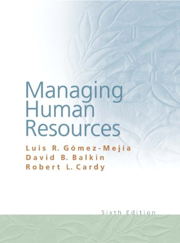 9780136093527: Managing Human Resources