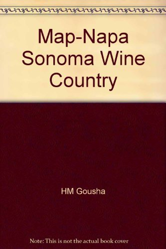 9780136093718: Map-Napa Sonoma Wine Country