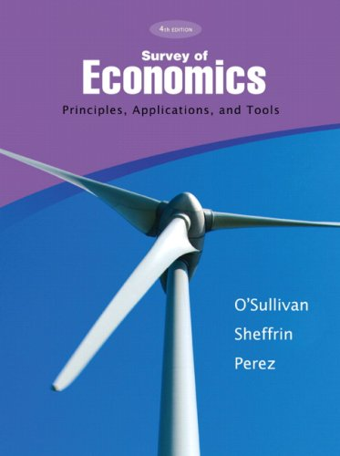 9780136093800: Survey of Economics: Principles, Applications, and Tools (4th Edition)