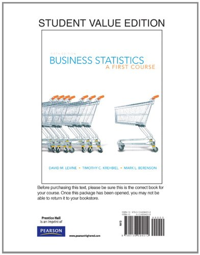 9780136094012: Business Statistics: A First Course