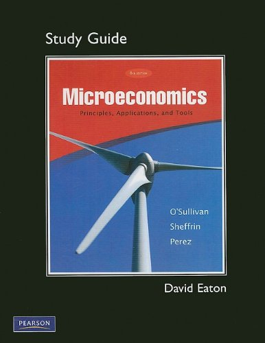 9780136094081: Study Guide for Microeconomics: Principles, Applications, and Tools