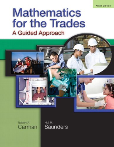 9780136097082: Mathematics for the Trades: A Guided Approach (9th Edition)