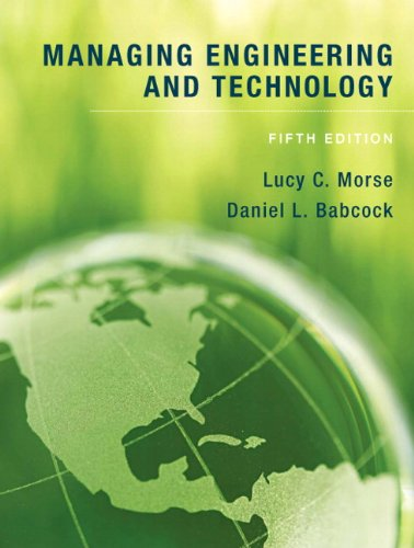 9780136098096: Managing Engineering and Technology (5th Edition)