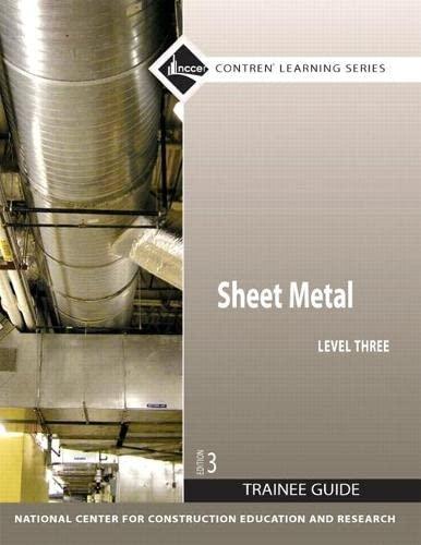 9780136099628: Sheet Metal: Trainee Guide Level 3 (Contren Learning)