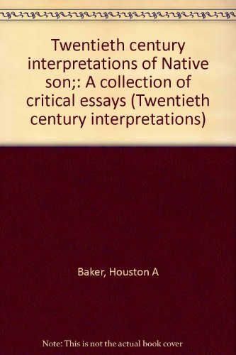 9780136099826: Twentieth century interpretations of Native son;: A collection of critical essays