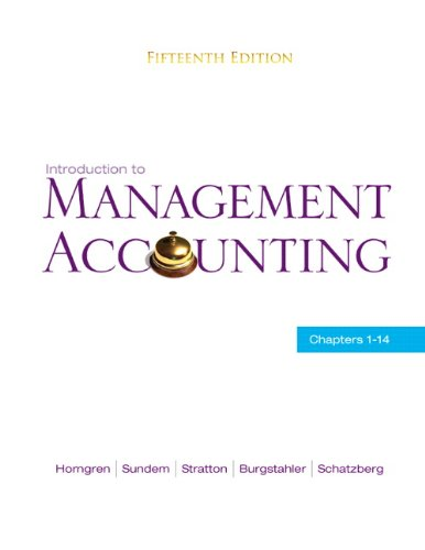 9780136102779: Introduction to Management Accounting: Chapters 1-14