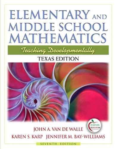 9780136103677: Elementary and Middle School Mathematics: Texas Edition: Teaching Developmentally [With 2 and Access Code]