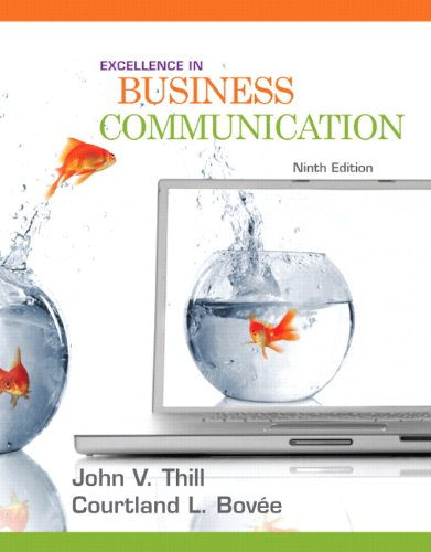 9780136103769: Excellence in Business Communication (9th Edition)