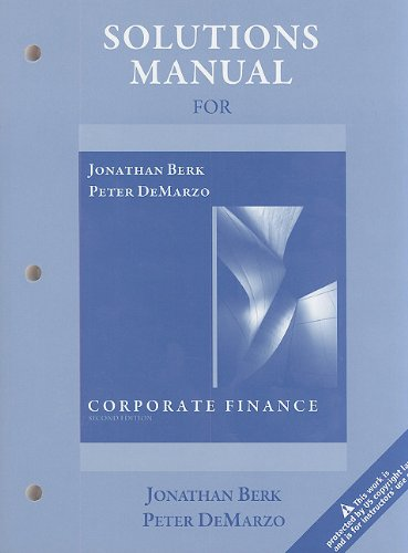 9780136103998: Solutions Manual for Corporate Finance