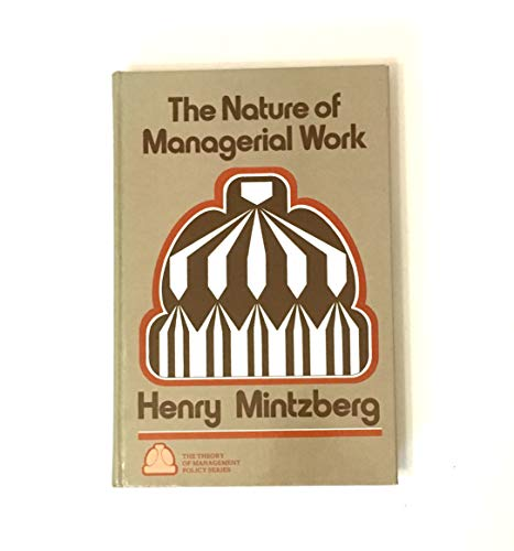9780136104025: The Nature of Managerial Work