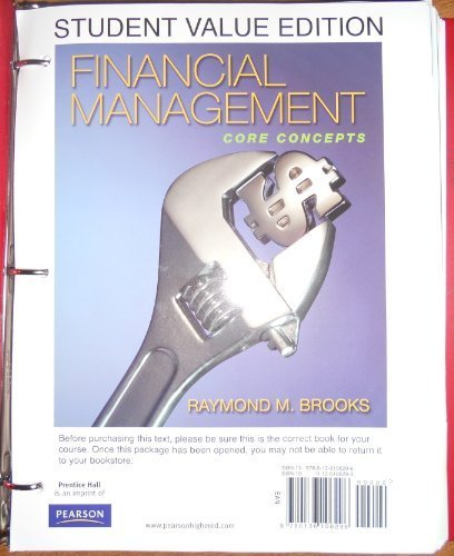 9780136106296: Financial Management: Core Concepts, Student Value Edition