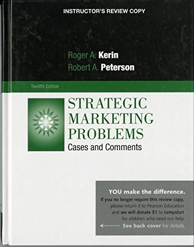 9780136107071: Strategic Marketing Problems, 12th Edition, Instructor's Copy