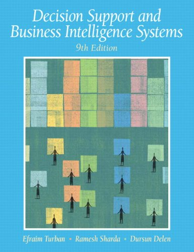 9780136107293: Decision Support and Business Intelligence Systems (9th Edition)