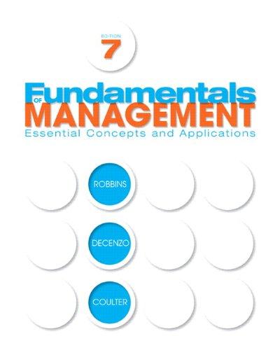 9780136109822: Fundamentals of Management