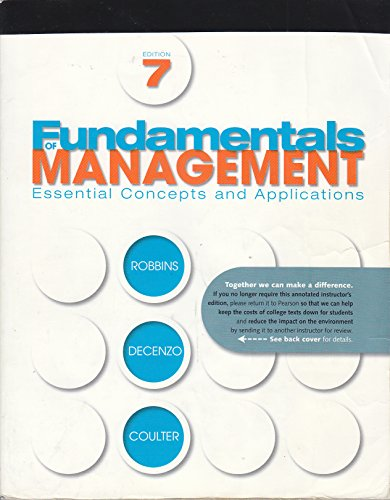 Fundamentals of Management - Essential Concepts and: Robbins / Decenzo