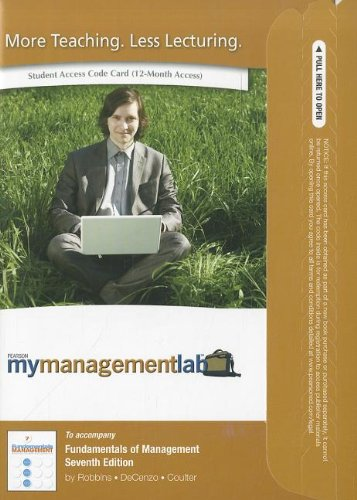 9780136110095: MyManagementLab with Pearson eText -- Access Card -- for Fundamentals of Management