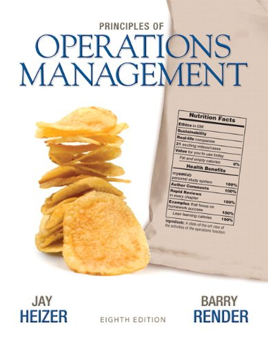 9780136114468: Principles of Operations Management (8th Edition)