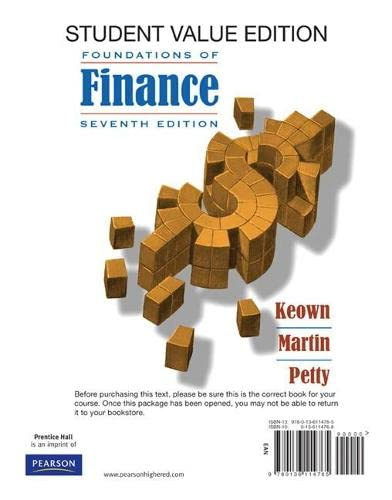 9780136114765: Foundations of Finance: The Logic and Practice of Financial Management, Student Value Edition