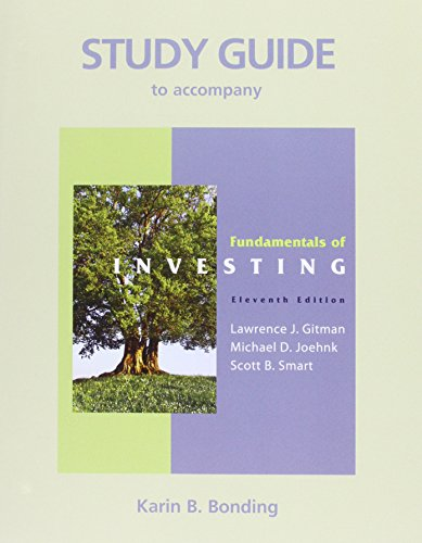 9780136115632: Study Guide for Fundamentals of Investing